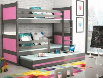Łóżka piętrowe dla trzech osób